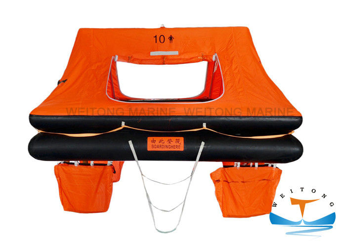 Rubber Marine Life Raft Lightweight Construction SOLAS Standard For Small Craft