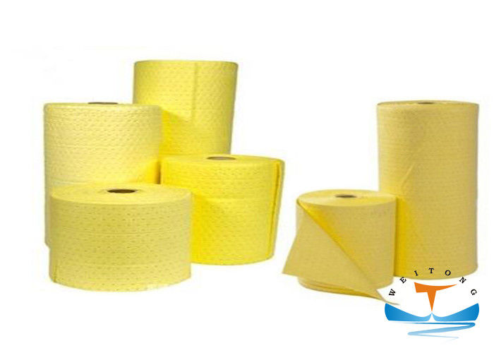 100 Pp Industrial Oil Absorbent Chemical Absorbent Rolls 40CMx50CM Size